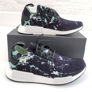 New ADIDAS NMD R1 PK Mint Marble Sneakers